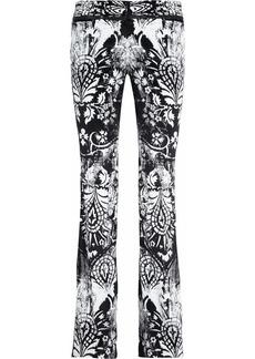 Roberto Cavalli Printed velvet flared pants