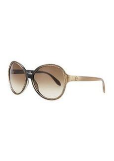 Roberto Cavalli Round Embossed-Temple Sunglasses