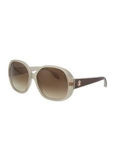 Roberto Cavalli Round Snakeskin-Print-Temple Sunglasses