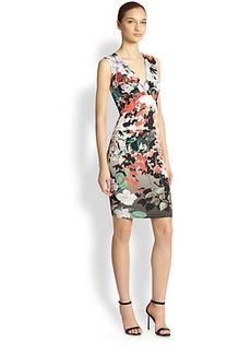 Roberto Cavalli Sleeveless V-Neck Knit Dress