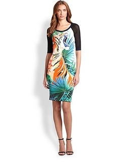 Roberto Cavalli Tiger Print Dress