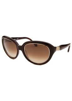 Roberto Cavalli Women's Acqua Round Brown Sunglasses