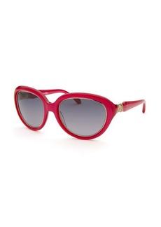 Roberto Cavalli Women's Acqua Round Crimson Sunglasses