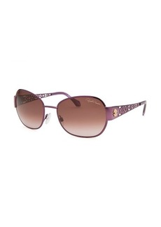 Roberto Cavalli Women's Alcore Butterfly Purple Sunglasses