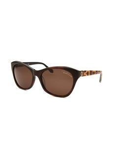 Roberto Cavalli Women's Asdu Cat Eye Dark Brown Sunglasses