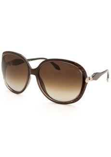 Roberto Cavalli Women's Banyan Oversized Brown Sunglasses