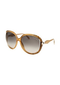 Roberto Cavalli Women's Banyan Oversized Champagne Sunglasses