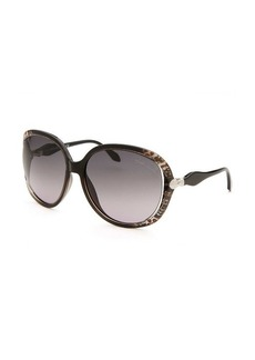 Roberto Cavalli Women's Banyan Oversized Grey Sunglasses