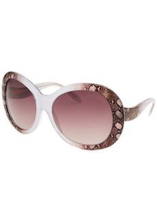 Roberto Cavalli Women's Full Moon Oversized Black & Animal Print Sunglasses