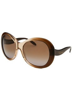 Roberto Cavalli Women's Full Moon Oversized Brown Translucent & Beige Translucent Sunglasses