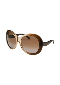 Roberto Cavalli Women's Full Moon Oversized Brown Translucent & Beige Translucent Sunglasses