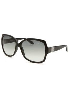 Roberto Cavalli Women's Ginestra Square Black Sunglasses