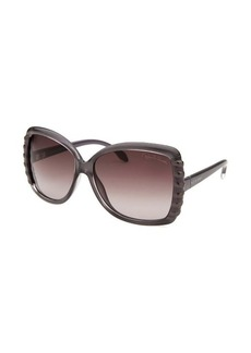 Roberto Cavalli Women's Ginko Square Smoke Sunglasses