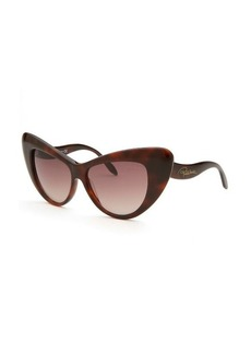 Roberto Cavalli Women's Lohifushi Cat Eye Dark Havana Sunglasses