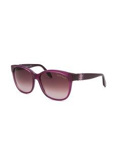 Roberto Cavalli Women's Mirra Wayfarer Purple Sunglasses