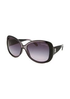 Roberto Cavalli Women's Morane Round Translucent Black Sunglasses