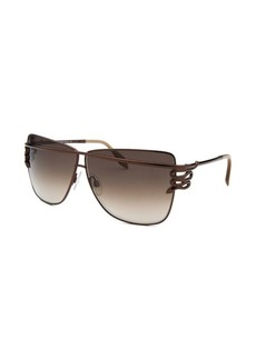 Roberto Cavalli Women's Morane Square Brown Sunglasses