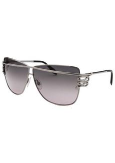 Roberto Cavalli Women's Morane Square Gunmetal and Black Sunglasses