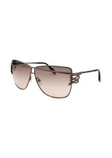 Roberto Cavalli Women's Morane Square Gunmetal Sunglasses