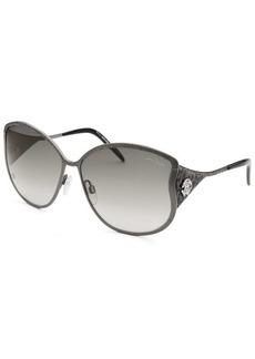 Roberto Cavalli Women's Mughetto Butterfly Gunmetal Sunglasses