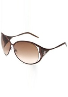 Roberto Cavalli Women's RC574SSW48F Oval Metal Wrap Sunglasses