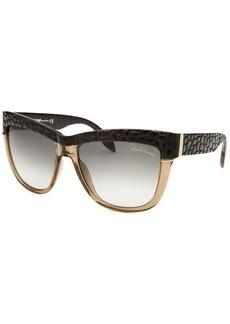 Roberto Cavalli Women's Rea Wayfarer Beige Translucent & Black Sunglasses