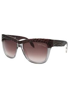 Roberto Cavalli Women's Rea Wayfarer Grey Translucent & Brown Sunglasses