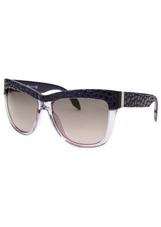 Roberto Cavalli Women's Rea Wayfarer Lavender Translucent & Purple Sunglasses