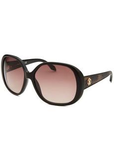Roberto Cavalli Women's Taj Oversized Black Sunglasses