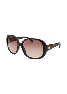 Roberto Cavalli Women's Taj Oversized Black Sunglasses
