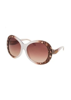 Roberto Cavalli Women's Taj Oversized Brown & White Sunglasses