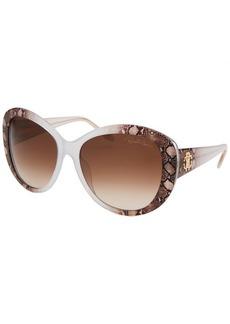Roberto Cavalli Women's Temoe Round Crystal Full-Tint Sunglasses