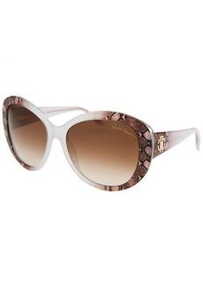 Roberto Cavalli Women's Temoe Round Crystal Sunglasses