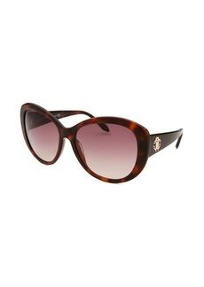 Roberto Cavalli Women's Temoe Round Dark Havana Sunglasses