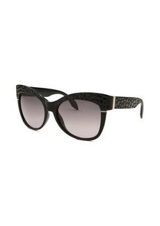 Roberto Cavalli Women's Teti Round Black Sunglasses