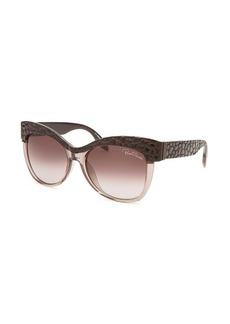 Roberto Cavalli Women's Teti Round Translucent Amethyst Sunglasses