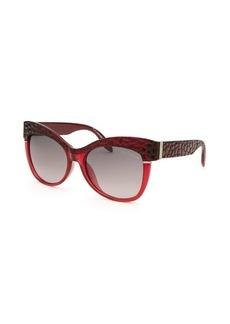 Roberto Cavalli Women's Teti Round Translucent Red Sunglasses