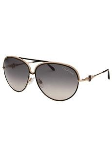Roberto Cavalli Women's Turela Aviator Black and Rose-Tone Sunglasses