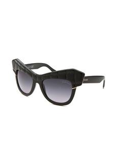 Roberto Cavalli Women's Wild Diva Square Black Sunglasses