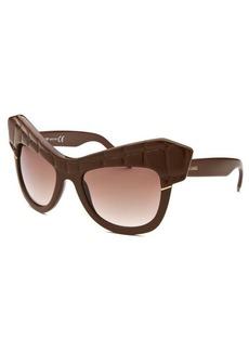Roberto Cavalli Women's Wild Diva Square Brown Sunglasses