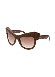Roberto Cavalli Women's Wild Diva Square Brown Sunglasses