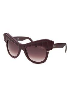 Roberto Cavalli Women's Wild Diva Square Purple Sunglasses