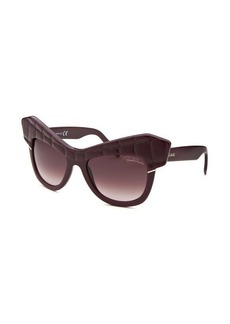 Roberto Cavalli Women's Wild Diva Square Purple Sunglasses