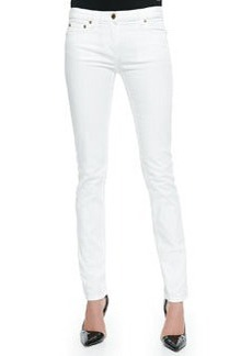 Skinny Denim Ankle Jeans, White   Skinny Denim Ankle Jeans, White