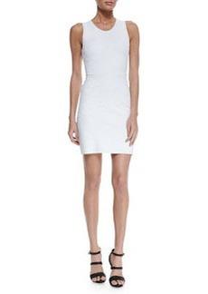 Swirl Knit Jacquard Sheath Dress, White   Swirl Knit Jacquard Sheath Dress, White