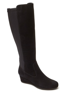 Rockport 'Total Motion' Knee High Wedge Boot (Women) (Wide Calf)