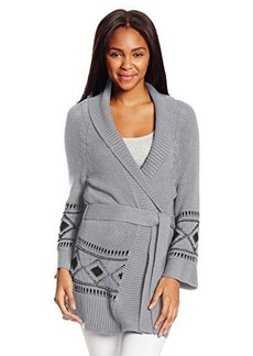 Roxy Juniors Coast Road Wide Collar Open Cardigan Sweater