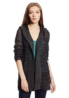 Roxy Juniors Holloway Hooded Cardigan Sweater