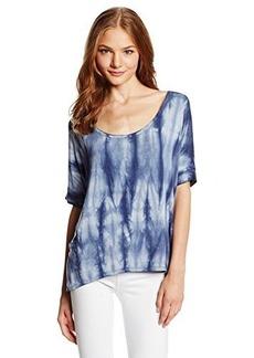 Roxy Juniors Long Journey Dolman Sleeve Tie Dye Jersey Top