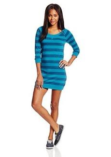 Roxy Juniors Rain Shine Long Sleeve Knit Stripe Shirt Dress